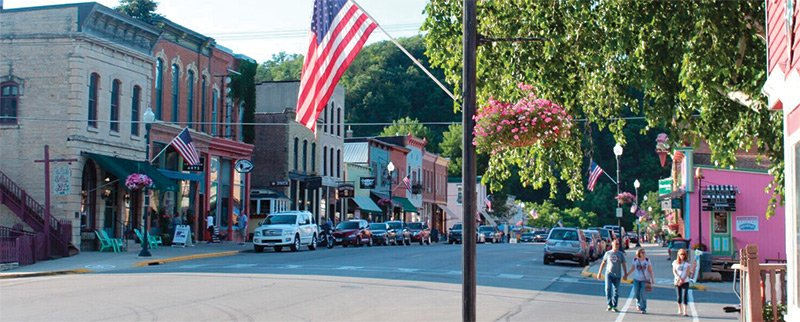 downtown Lanesboro Minnesota
