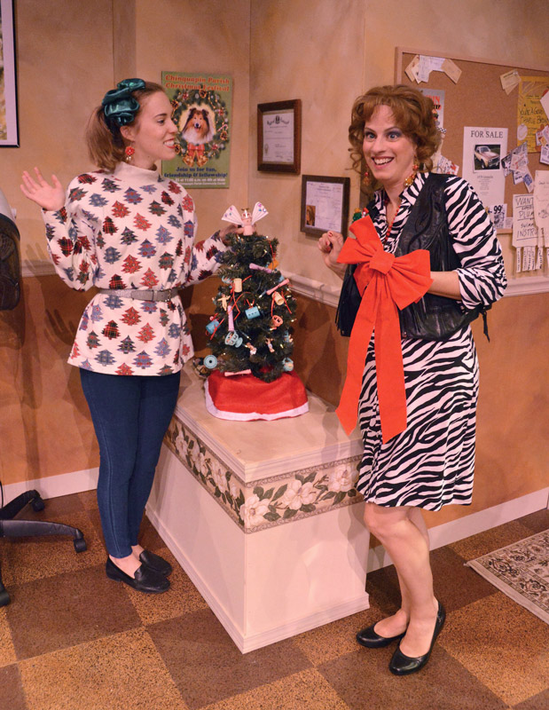 Steel Magnolias Annelle and Truvy decorate for Christmas, 2017